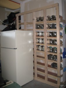 The Beginning, wall mounted rotation, flush and ready to build out the shelves